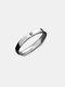 シンプルな925シルバーカップルリング調節可能なオープンサンムーンリングバレンタインデーギフト - 男性