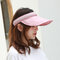 Women Collapsible Summer Shading Empty Top Hat - Pink