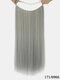 10 цветов длинные прямые Волосы удлинители химического волокна без следов ложные Волосы шт. - #09