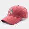 Men & Women Cactus Cartoon Embroidery Baseball Cap - Red