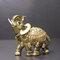 الفيل أنيقة تمثال جذع الفيل تمثال الحرف الحلي الرئيسية مكتب ديكور سطح المكتب هدية - ذهب