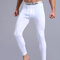 Mens Winter Thermal High Elasticity Butt Lifting Breathable Heated Sleepwear Long John