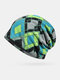 Women Cotton Plus Velvet Keep Warm Diamonds Pattern Casual Personality Elastic Beanie Hat - Green