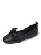 Повседневный лук Дизайн Одинарные туфли Комфортные Soft Симпатичные балетки для Женское - Черный