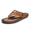 Men Clip Toe Microfiber Leather Comfy Soft Slip On Water Casaul Slippers