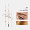 4 Farben Künstler Skizze Augenbrauenstiftcil Wasserdichter, schweißfester, natürlicher, langlebiger, superfeiner Augenbrauenstift - # 01