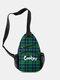 Casual Canvas Cool Letter Print Pattern Chest Bag Zipper Pocket Crossbody Bag - #11