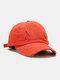 Coton unisexe trous cassés mode chapeau de baseball pare-soleil extérieur - Orange