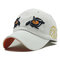 Men Embroidery Eagle Eyes Pattern Vintage Cotton Washed Breathable Adjustable Baseball Cap - White