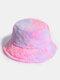 Donna Colorful Cappello secchio in peluche caldo Cappello da secchio elegante selvaggio sfumato esterno - #04