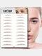 3D Eyebrow Tattoo Sticker Long Lasting Waterproof False Eyebrows Cosmetics - 09 Brown