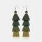 Bohemian Handmade Multi-layer Tassel Earrings Irregular Gradient Tassel Long Earrings - 6