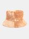 Women & Men Corduroy Multicolor Tie Dye Casual Soft Outdoor All-match Bucket Hat - #08