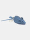 Women Genuine Leather Cute Animal Mouse Pattern Keychain Wallet Coin Bag Storage Bag - Blue