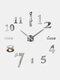 Horloge murale miroir acrylique numérique 3D stéréo bricolage moderne Simple peinture murale horloge autocollant mural horloge - argent