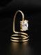 Elegant Opening Diamond Nail Ring Tail Ring - #04