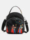 Women Waterproof Multi-carry Bohemia Elephant Print Handbag Crossbody Bag Backpack - #07