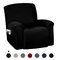 أغطية كرسي كرسي عالية التمدد شاملة كليًا ضد للماء غطاء أريكة مضاد للانزلاق قابل للغسل واقي أثاث 7 ألوان - أسود