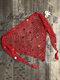 Copricostume annodato con paillettes scavate a rete da donna - Rosso