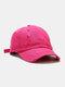 Coton unisexe trous cassés mode chapeau de baseball pare-soleil extérieur - rouge