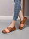 Women Casual Soft Slip On Color Block Flats - Brown