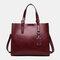 Women Retro Large Capacity Crossbody Bag Handbag Satchel Bag - Wine Red