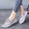 Women Soft Genuine Leather Lace Up Casual Walking Shoes - Pink