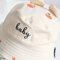 Detachable Face Screen Children's Sun Hat Windproof Transparent Fisherman Hat Dust Cap - White