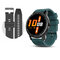 Full Touch 360*360 Resolution Screen GPS Route Track 30 Days Standby Heart Rate SpO2 Monitor Health Calculator Smart Watch - Green