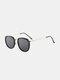 ユニセックスオーバルフレームメタルとPCフレームアンチブルーライトアンチUVサングラス - #01