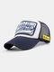 Unisex Cotton Patch Letter Embroidery Pattern Fashion Hip-hop Style Sunshade Baseball Hat - Blue