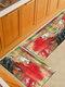 Pintura de acuarela Patrón Soft Puerta antideslizante Manta Alfombra Alfombra Alfombra de piso de cocina Interior al aire libre Decoración - #03
