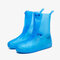 Unisex Thicken Waterproof Slip Resistant Clear Rain Shoes Foot Cover Protective - Blue
