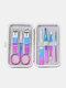 7/10/12/15 Pcs Stainless Steel Nail Clippers Set Portable Travel Exfoliating Manicure Pedicure Grooming Set - 7 Pcs