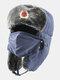 男性防寒冬用トラッパーハットマスクトラッパーハット付き厚手の冬用ハット耳栓 - #03