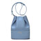 Women Patchwork Bucket Bag Large Capcity Multifunctional Crossbody Bag - Blue