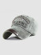 Men Washed Cotton Embroidery Baseball Cap Outdoor Sunshade Adjustable Hats - #03
