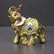 الفيل أنيقة تمثال جذع الفيل تمثال الحرف الحلي الرئيسية مكتب ديكور سطح المكتب هدية - أخضر