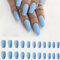 24Pcs/Box Full Cover Frosted Ballet Nail Tips Almond Press On Nails Wearable Fake Nail with Glue - 19