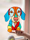 1 PC PVC Cartoon Peeking Cat Dog Cute Home Decoration Self-adhesive Waterproof Window Sticker Wall Sticker - #08