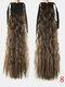 10 цветов конский хвост Волосы удлинительный галстук Веревка кукурузная пермская коса длинный вьющийся хвост - #06