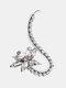 1 Pc Vintage Butterfly Flowers Women Earrings Temperament Full Diamonds Crystal Ear Clips Ear Stud - #02
