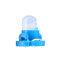 4 / 10PCS T4ウェッジLED電球計器ダッシュボードダッシュ気候ベースランプライト  - 青い