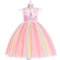 Unicorn Dress Girls Sleeveless Princess Dress For 3-13Years