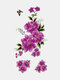28 Pcs Disposable Tattoos Stickers Colored Plum Blossom Rose Peach Waterproof Temporary Tattoos - 20