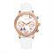 Cristal Caso borboleta mulheres pulseira de couro senhoras vestido relógio de quartzo