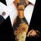 Los hombres de poliéster de seda de precisión textil Boda partido empate bolsillo Toalla traje de gemelos