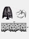 1 PC Halloween Family Dining Table Lace Mesh Cloth Spider Web Skeleton Skull Tablecloth Fireplace Festival Party Decoration - #04