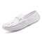 Men  Crocodile Pattern Driving Loafers Slip On Casual Leather Shoes - White
