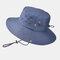 Men's Hiking Hat Big Breathable Sun Hat UV Protection Fisherman's Hat - Navy